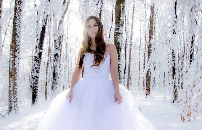 Esküvői fotó: téli mesevilág a Mecseken